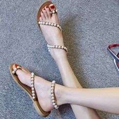 JY Shoes - Pearl Genuine Leather Sandals