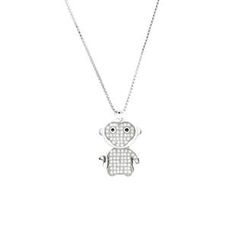 Glamagem - 12生肖动物吊饰 - 欢喜猴 - 连项链