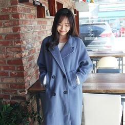 Envy Look - Raglan-Sleeve Double-Breasted Coat