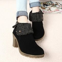 Mancienne - Fold-Over Ankle Boots