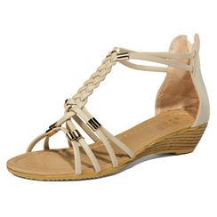 yeswalker - Braided T-Strap Sandals