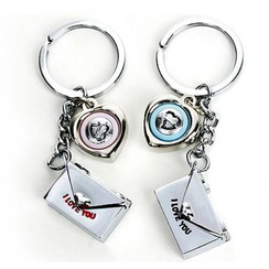 Cloud Forest - Couple Matching Heart Keyring