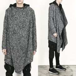 Remember Click - Wool-Blend Asymmetric Long Cardigan