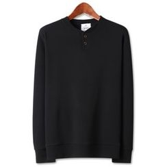 Seoul Homme - Button-Front Pullover
