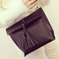 Youme - Faux Leather Tassel Shoulder Bag