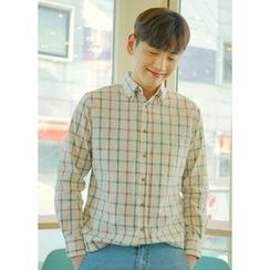 JOGUNSHOP - Long-Sleeve Check Shirt