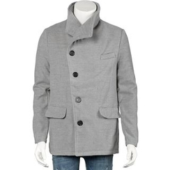 Free Shop - Single-Breasted Lapel Coat