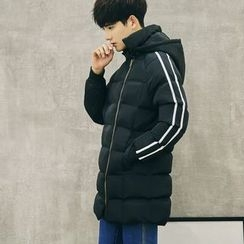 Eight Degrees - Hooded Long Padded Jacket