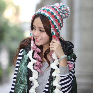 Momiton - Color-Block Earflap Beanie
