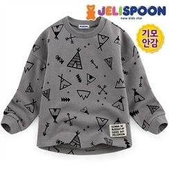 JELISPOON - Kids Patterned Brushed-Fleece Lined Sweatshirt