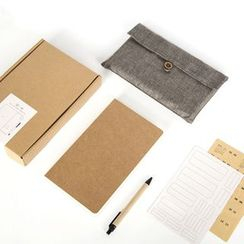 Cute Essentials - Set: Small Notebook + Cover + Pen
