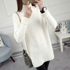 anzoveve - High Neck Long Sweater
