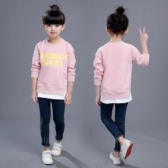 SEE SAW - 童装长袖字母上衣