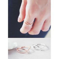 kitsch island - Rhinestone Silver Ring