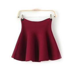 艾女 - 高腰 A 字针织裙