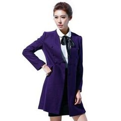Aision - Wool Blend Buttoned Coat