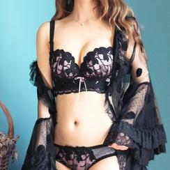 Aloysia - Set: Lace Trim Bra + Panties