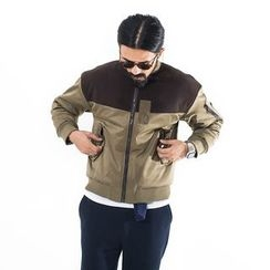 YIDESIMPLE - Two-Tone Baseball Jacket