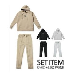 STYLEMAN - Set: Neoprene Hoodie + Neoprene Sweat Pants