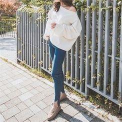 ERANZI - Cutout-Hem Skinny Jeans