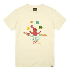 the shirts - Rabbit in Space Print T-Shirt