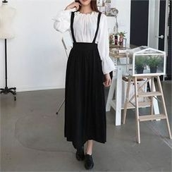 CHICFOX - Suspenders Maxi Skirt