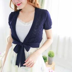 Tokyo Fashion - Tie-waist Knit Jacket
