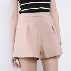 Sens Collection - Plain Wide-leg Shorts