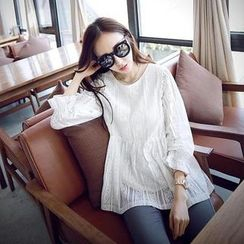 Ceres - Maternity Lace Long-Sleeve Top