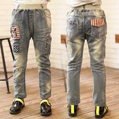 三零九班 - 兒童貼布牛仔褲