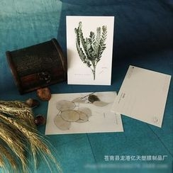 Mila Blue - Floral Print Postcard