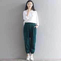 Dream Girl - Corduroy Harem Pants