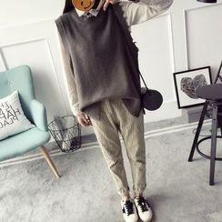 Qimi - Distressed Knit Vest