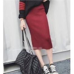 Oaksa - Midi Knit Skirt