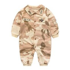 MOM Kiss - Baby Camouflage Collared One-piece