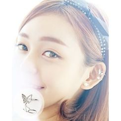 Miss21 Korea - Butterfly Double Ear Cuff (Single)