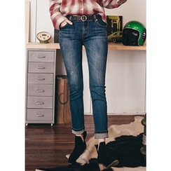 Chlo.D.Manon - Washed Slim-Fit Jeans