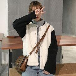 Dute - Two Tone Fleece Jacket