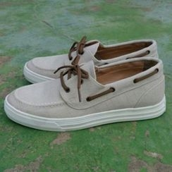Ohkkage - Washed Canvas Deck Shoes