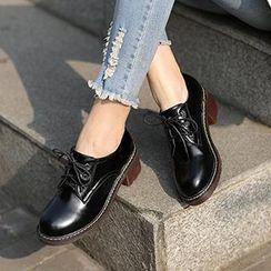 Mancienne - Chunky-Heel Oxfords