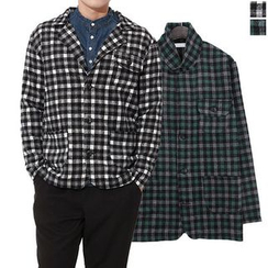 Seoul Homme - Pocket-Detail Check Shirt