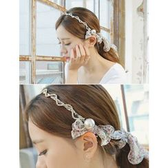 soo n soo - Flower Patterned Chiffon Hair Band