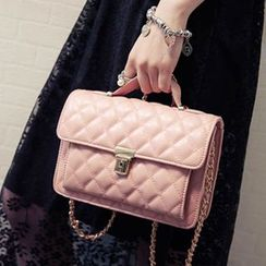 Clair Fashion - Faux Leather Quilted Shoulder Bag