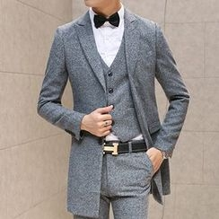 Besto - Plain Lapel Coat