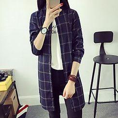 Yohana - 格紋長襯衫