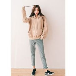 J-ANN - Cotton Hooded Pullover