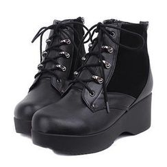 Mancienne - Lace-Up Ankle Boots