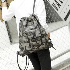 BagBuzz - Camo Drawstring Backpack