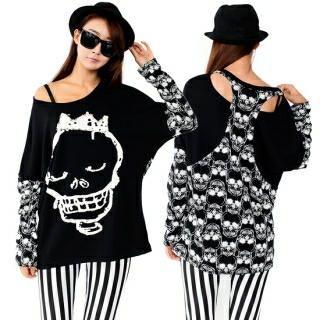 Nabi - Round-Neck Skull-Print T-Shirt