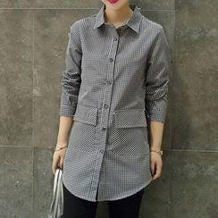 Fashion Street - Check Long Shirt